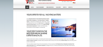 Website for Marine Experts Malta