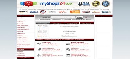 MyShops24 Shopping – Su comparación de precios en directo de más de 91 milones de productos!